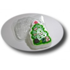 """Пластиковая форма """"Елочка с подарками"""""""