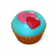 """Пластиковая форма  """"Кейк - Двойное сердце"""""""