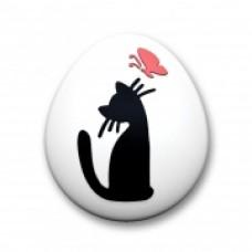 """Пластиковая форма  """"Котёнок с бабочкой"""""""
