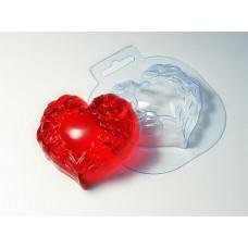 """Пластиковая форма """"Крылатое сердце"""""""