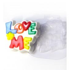 """Пластиковая форма """"Love me"""""""