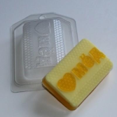 "Пластиковая форма  ""Люблю мед"""