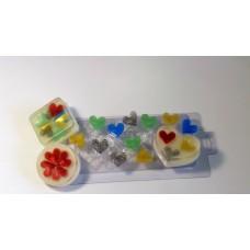 Пластиковая форма Мульти-форма Сердечки