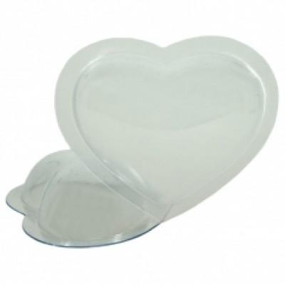 Пластиковая форма сердце маленькое (2 половинки)