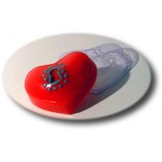 "Пластиковая форма ""Сердце на замочке"""