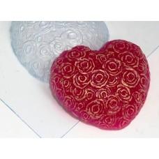 """Пластиковая форма """"Сердце из роз"""""""