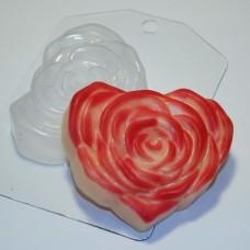 Пластиковая форма Сердце - Роза