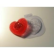 """Пластиковая форма """"Шелковое сердце"""""""