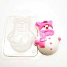Пластиковая форма Снеговик в шапке-хрюшке