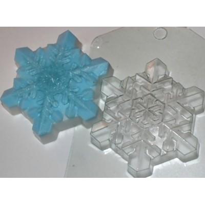 """Пластиковая форма """"Снежинка кристальная"""""""