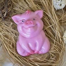 Пластиковая форма Свинка сидит
