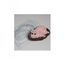Пластиковая форма Свинюшка в грязюшке