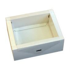 Подарочная коробка картонная белая, большая