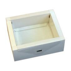 Подарочная коробка картонная белая, средняя
