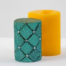 Силиконовая форма для свечи Цилиндр Ромбики 3Д