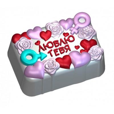 """Силиконовая форма 2Д """"Люблю Тебя"""""""
