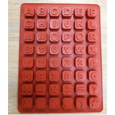 """Силиконовая форма """"Английский алфавит, цифры, знаки"""""""