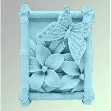 """Силиконовая форма """"Бабочка на цветке"""""""