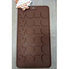 Силиконовая форма для шоколада Медальки 24 элемента