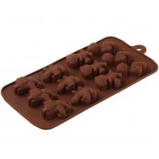Силиконовая форма для шоколада Дино
