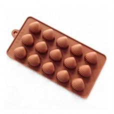 Силиконовая форма для льда и шоколада Ракушки