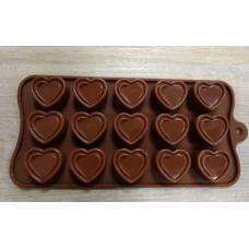 Силиконовая форма для шоколада Сердечки