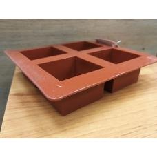 Силиконовая форма Квадраты 4 штуки 6х6х4 см