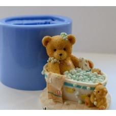 """Силиконовая форма """"Тедди в ванне 3D"""""""