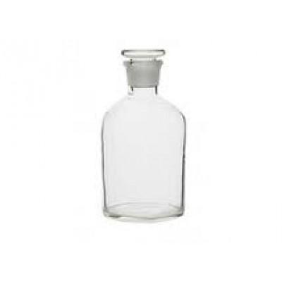 Склянка с притертой пробкой светлое стекло, с узким горлом