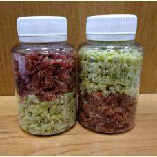 Ассорти ягодное (Клубника - Киви) сушеные резанные, 100 г